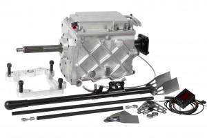 Växellåda RWD, komplett sats med adapterplatta i aluminium